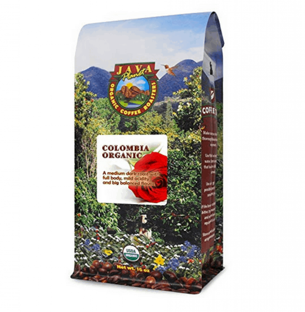 Java Planet - Organic Coffee Beans - Colombian Single Origin