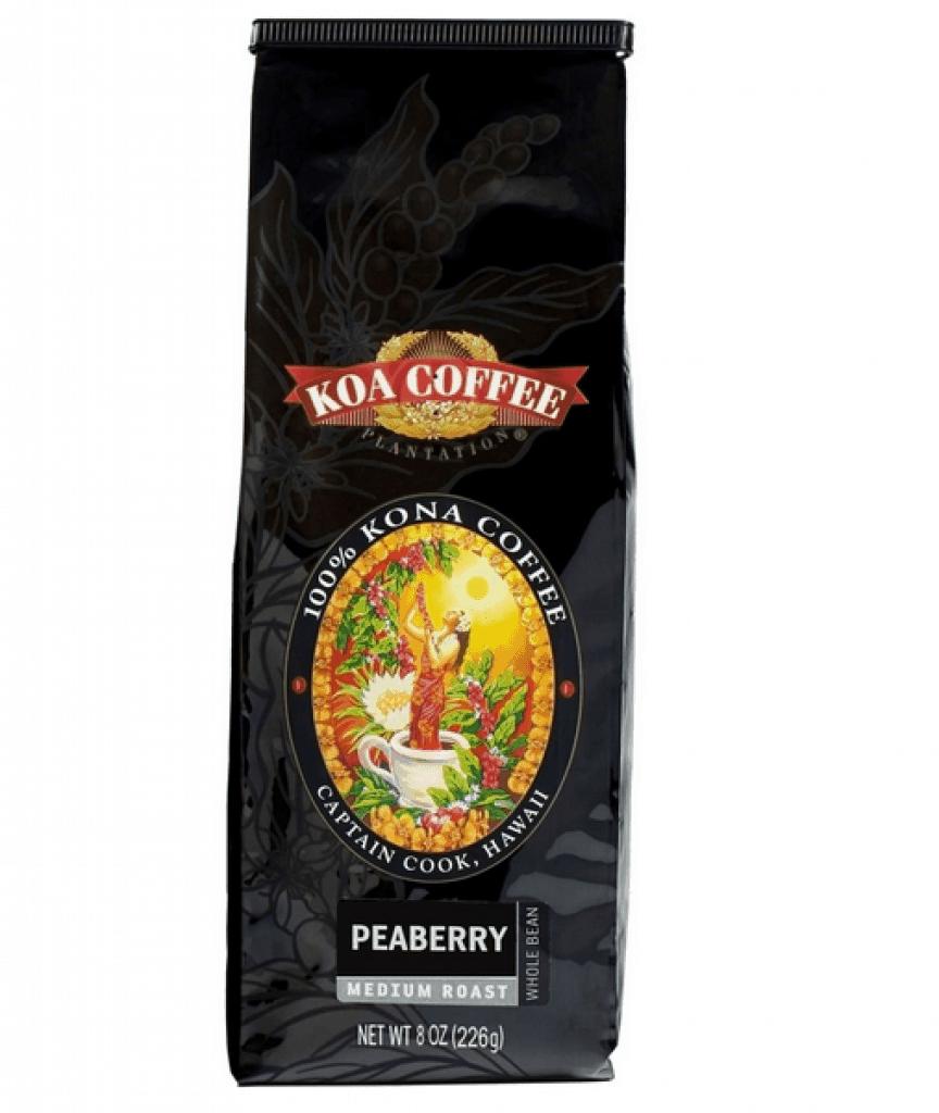 Peaberry Kona Coffee Medium Roast Whole Bean Kona Coffee Peaberry Medium Roast Whole Bean 100% Kona Coffee