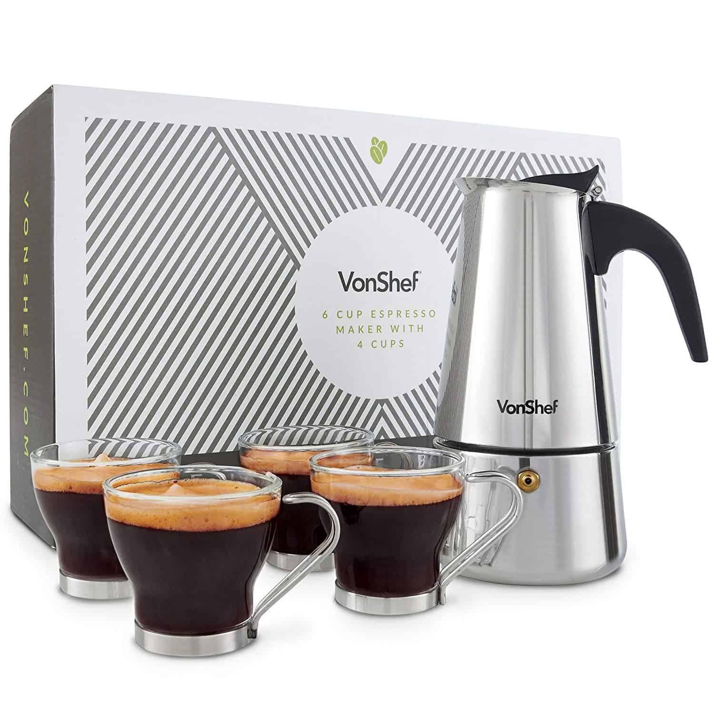 Vonshef-Stovetop Espresso Maker